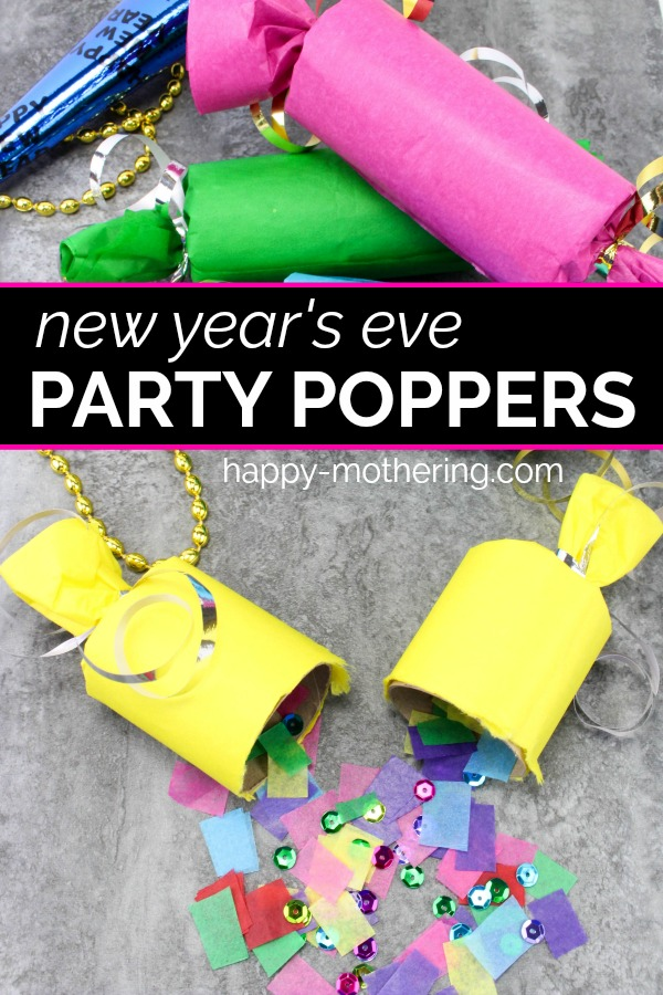 Are your kids as excited to stay up until midnight for New Year's Eve as mine? You can make it even more special with this fun DIY Party Poppers craft for kids.