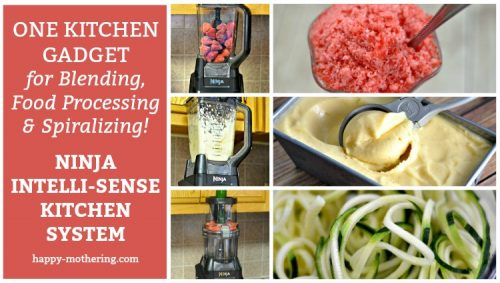 Do you want a gadget that does more than a traditional blender? The Ninja Intelli-Sense Kitchen System with Auto Spiralizer is a blender and so much more!
