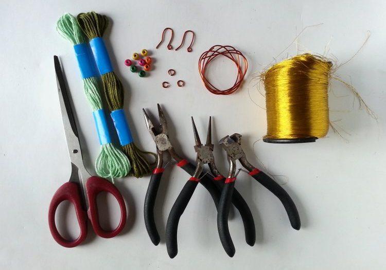 Supplies to make boho earrings