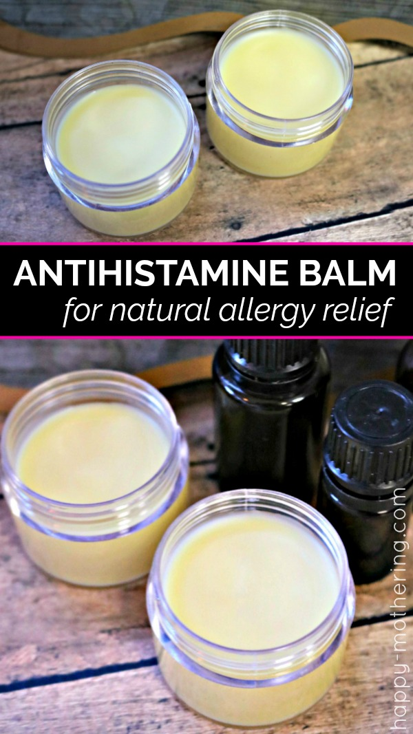 Are you looking for natural allergy relief remedies that work? Learn how to make our natural DIY antihistamine balm featuring essential oils quick allergy relief.