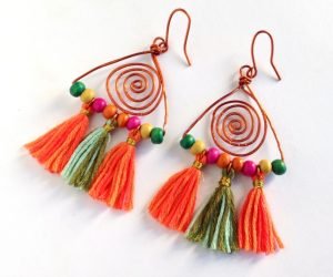 How to Make Colorful Boho Earrings with Tassels