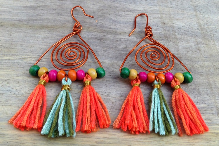 Handmade Boho Style Earrings - learn how to make them!