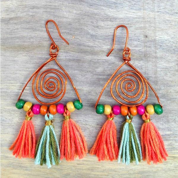 Boho earrings square