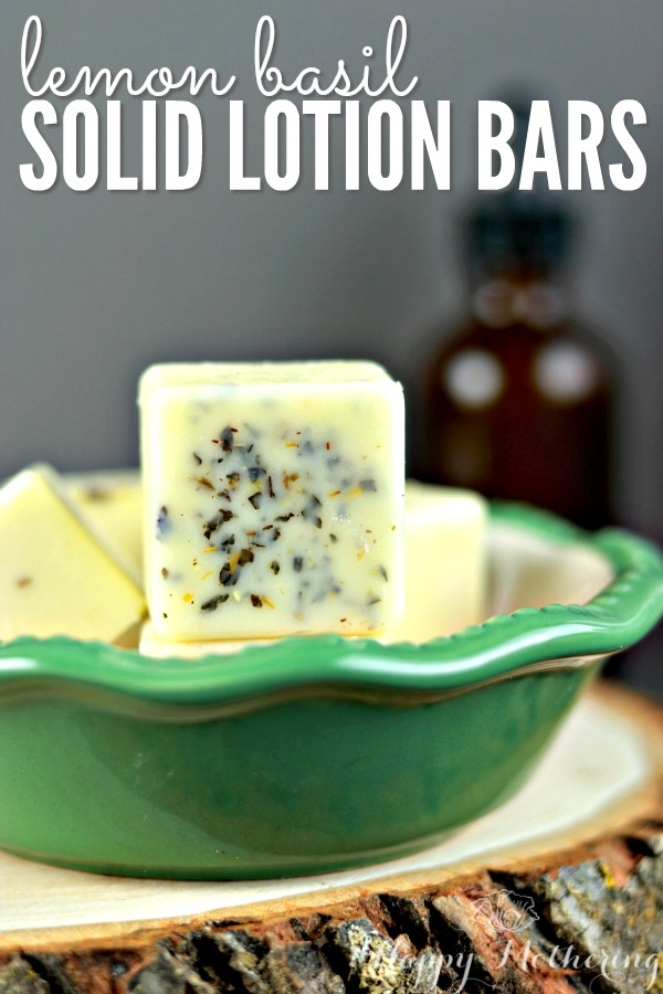 Do you want to learn how to make natural solid lotion bars for dry skin? You'll love our easy-to-follow DIY Lemon Basil Solid Lotion Bar recipe!