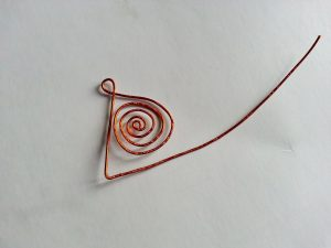 Triangle forming with copper wire
