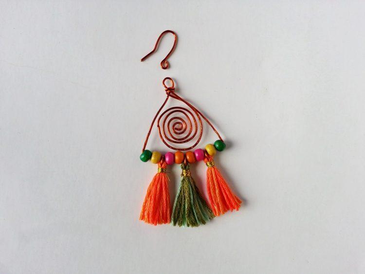 How to make colorful boho earrings step 15