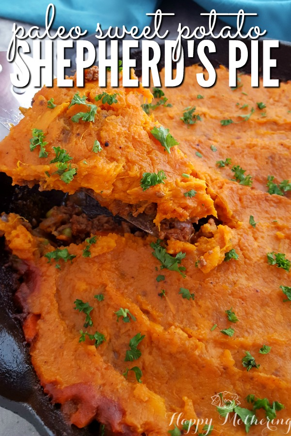 Are you looking for a healthy Sweet Potato Shepherd's Pie recipe made with grassfed beef? Ours is super easy to make in a cast iron skillet and it's paleo too!