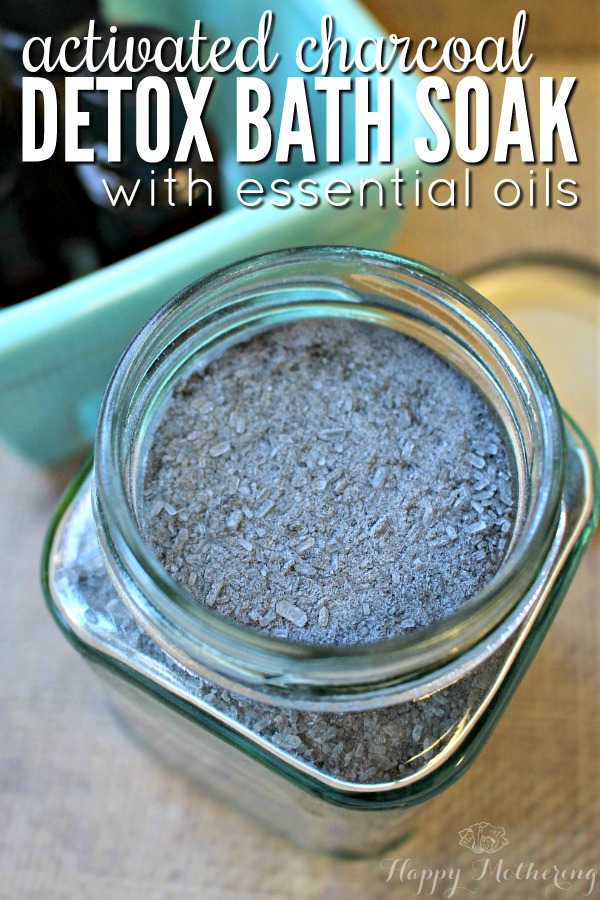 This activated charcoal detox bath soak is amazing if you like homemade face masks, soaps
