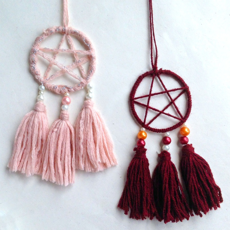 Square crop of dream catcher necklaces