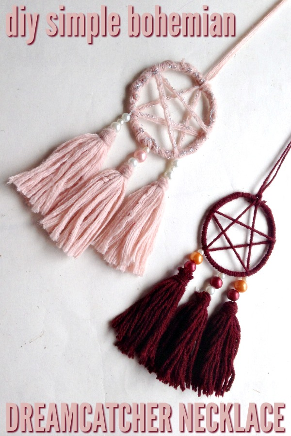 Do you love beautiful handmade jewelry with a simple design? Check out our tutorial for making a small DIY Bohemian Dreamcatcher Necklace.