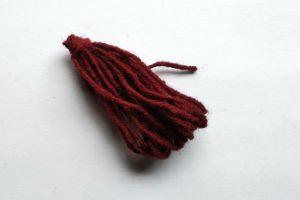 Brown yarn to make into tassle