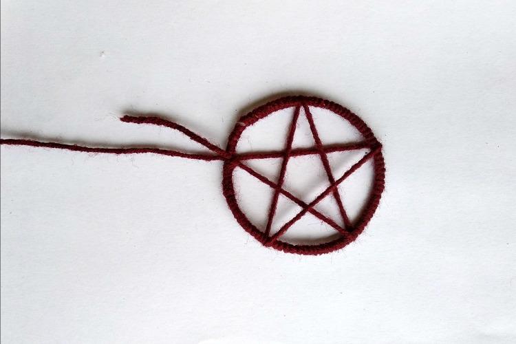 Star in dreamcatcher necklace