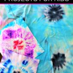 Two tie dyed wipes over a tie dye shirt