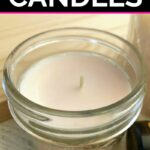 Soy wax candle made in a ounce jelly jar