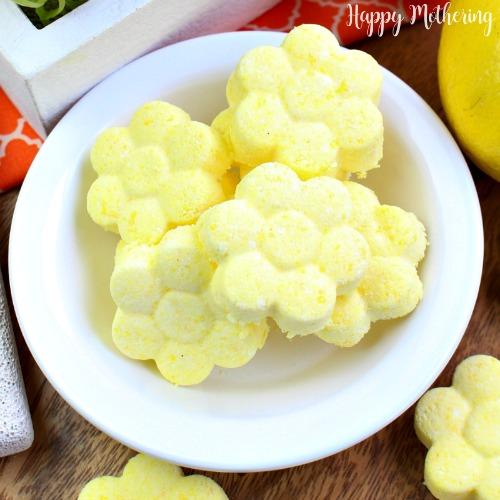 DIY flower shaped citrus shower steamers