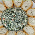Spinach dip is always a popular appetizer at summer barbecues. I've recreated my classic spinach dip recipe without using packaged vegetable soup mix to make it healthier!