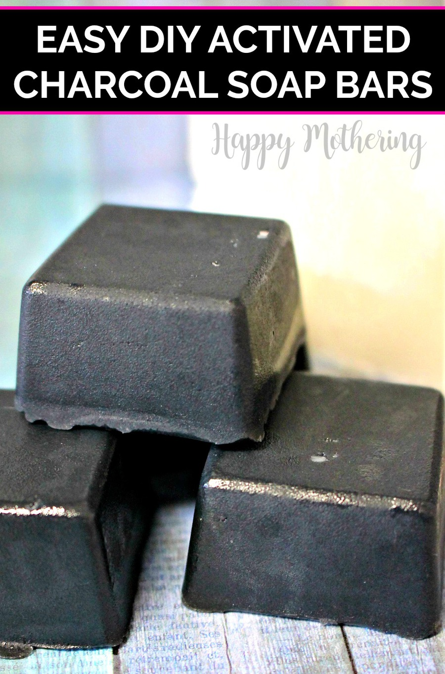 Are you looking for an easy DIY activated charcoal soap bars recipe? Our natural detox soap is made with shea butter melt and pour soap and essential oils.