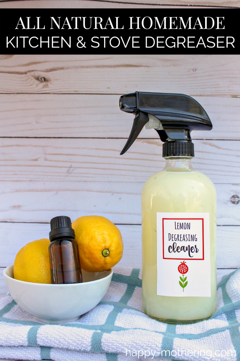 Do you like homemade cleaning products? Our DIY Kitchen & Stove Degreaser uses essential,