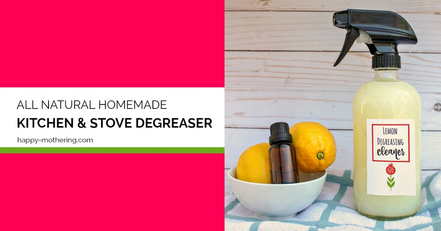 Do you like homemade cleaning products? Our DIY Kitchen & Stove Degreaser uses essential, baking soda and other natural ingredients. This cleaner is even heavy duty enough to use for cabinets.