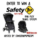Enter to win the Safety 1st Riva Travel System
