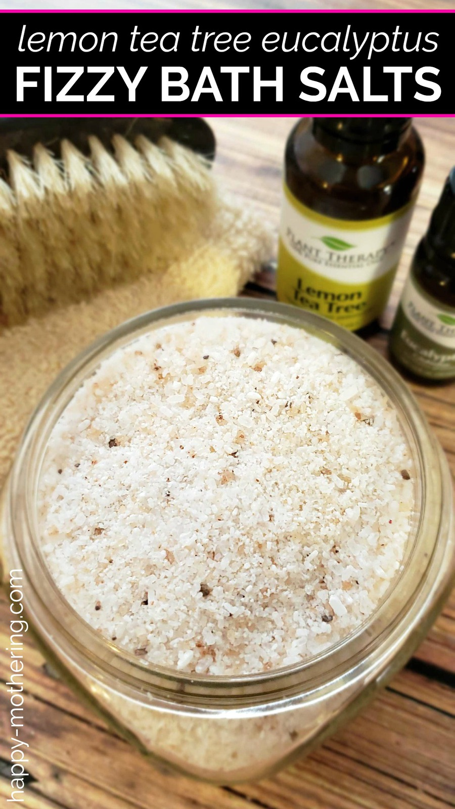 Fizzy bath salts are one of my new favorite homemade beauty products. They're so easy to make - you get the benefits of bath bombs without all the effort! This Lemon Tea Tree Eucalyptus scent is perfect for winter months and seasonal allergies.