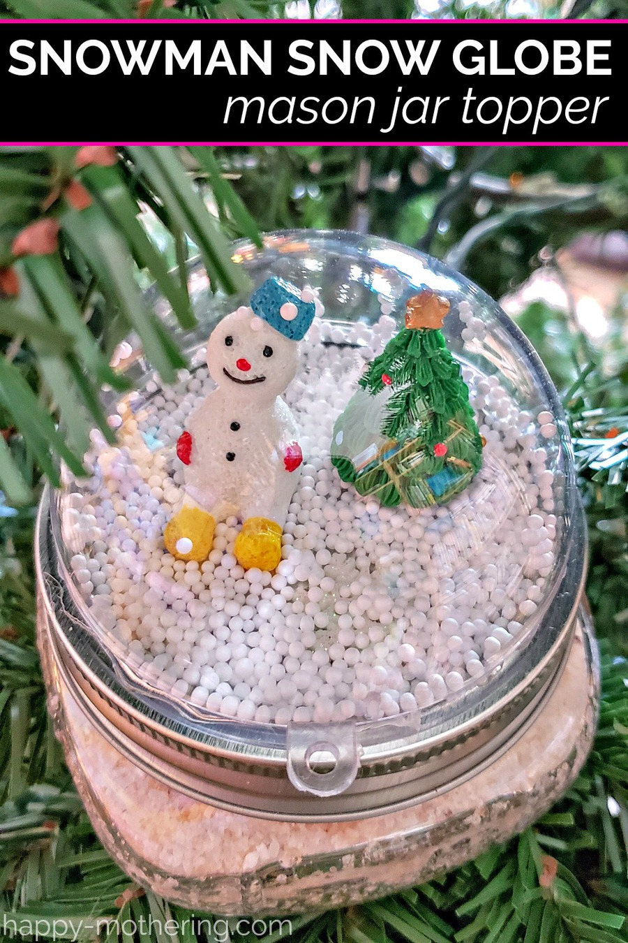 Are you looking for fun ideas to dress up your handmade gifts? Learn how to make DIY Snow Globe Mason Jar Toppers. They're the perfect way to personalize your homemade gift for the holidays. You can customize them for kids of all ages.