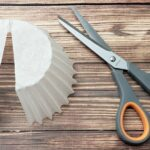 Coffee filter cut with scissors