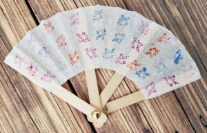 Completed Chinese fan craft