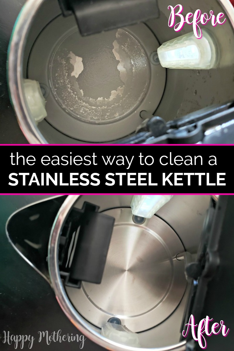 Are you looking for the easiest way to clean an electric stainless steel tea kettle? Learn our easy one ingredient cleaning method!