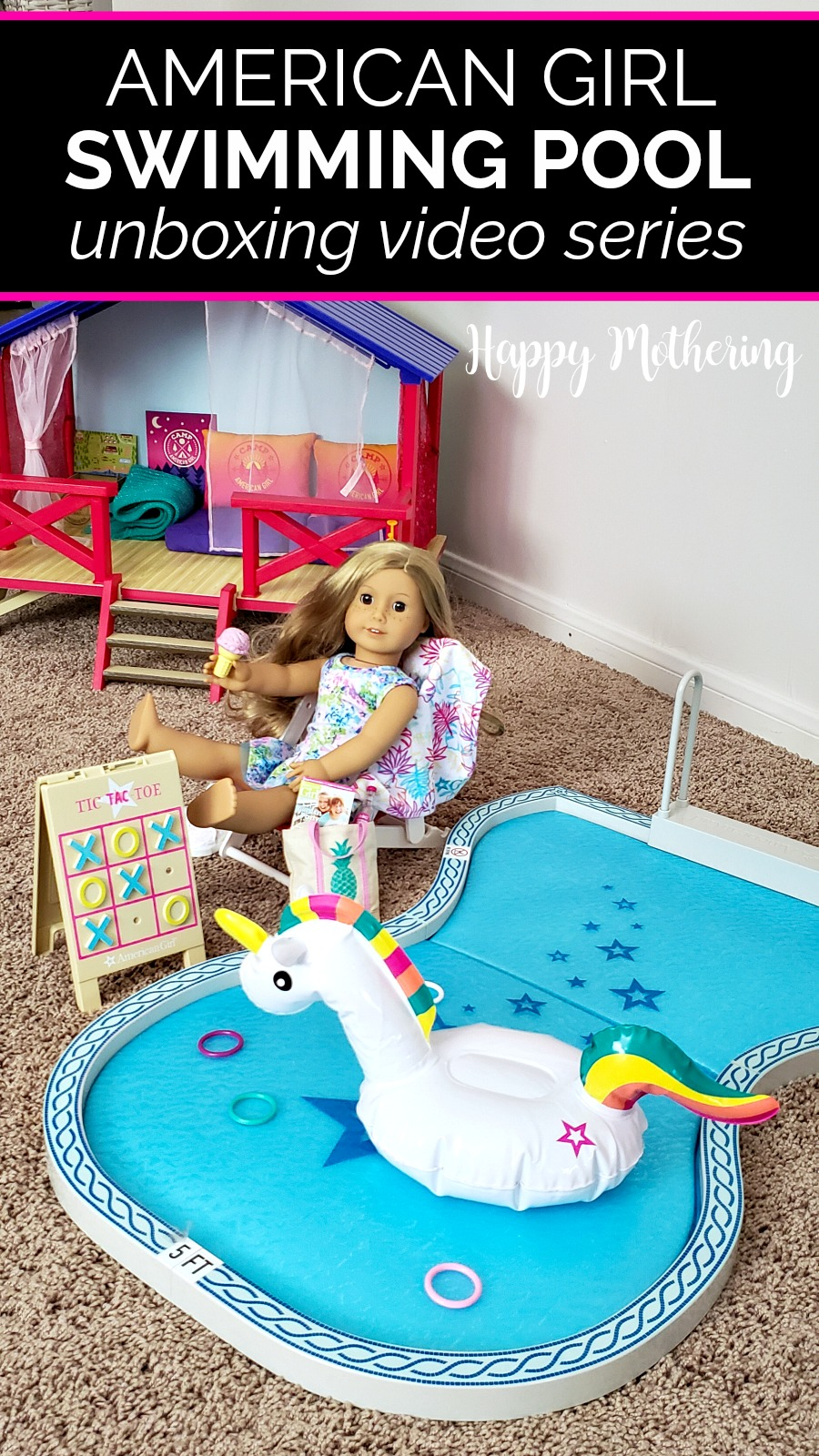 Summer is here and the weather is hot. Kaylee's Truly Me doll Abby is going to love cooling off in the American Girl Swimming Pool this summer! Watch us unbox the pool and accessories.