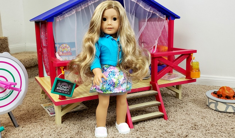 """American Girl 18/"""" Doll  Brown CAMP BENCH from AG CAMPFIRE Set NEW"""