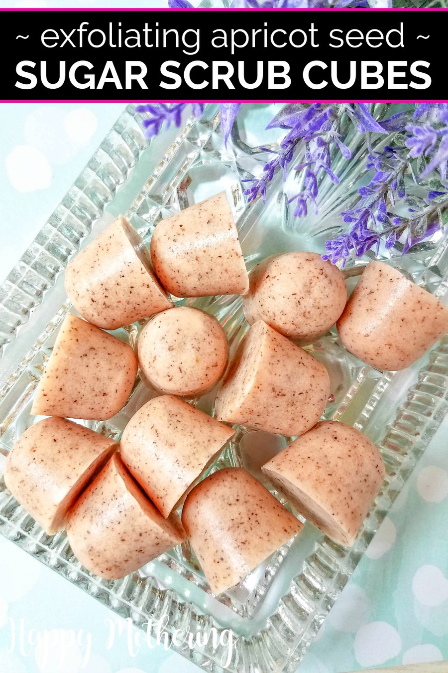 I love making homemade natural beauty products. If you're looking for new skincare recipes to try for your next spa day, these DIY Exfoliating Apricot Seed Sugar Scrub Cubes are easy to make and they do wonders for rough, dry skin.