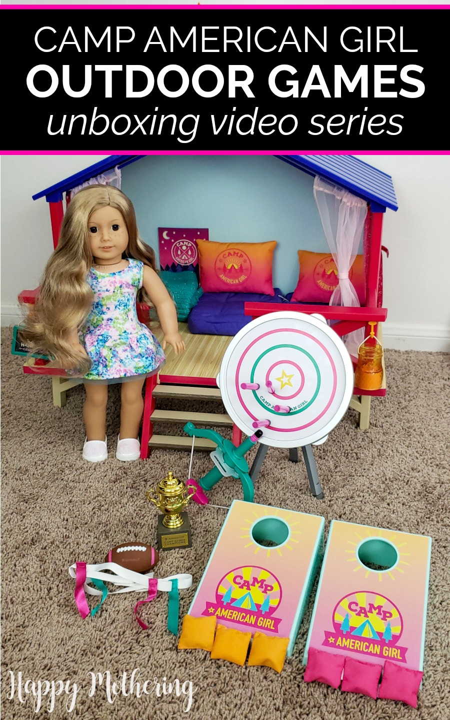 If your daughter is an American Girl dolls fan, then she will love the Camp American Girl Outdoor Games. Watch Kaylee and I unbox it, then be sure to enter the giveaway too!