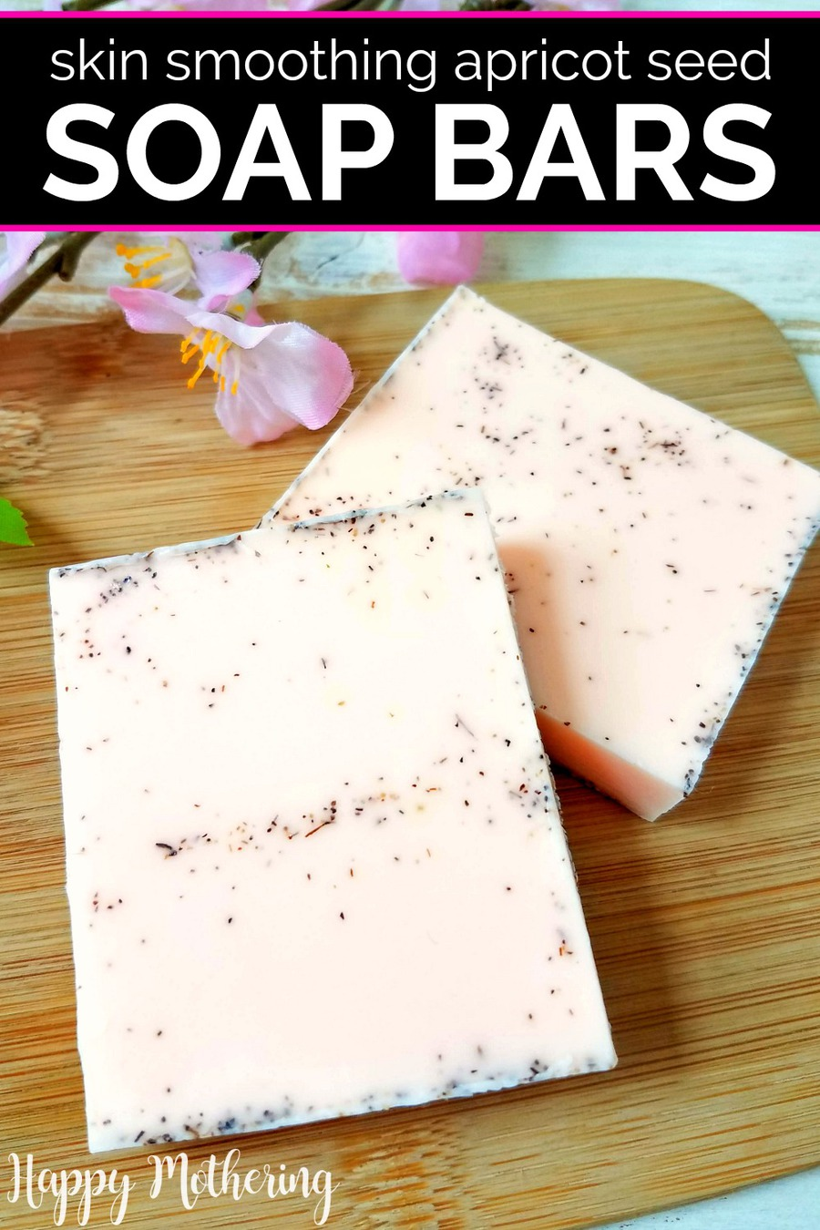 Looking for cute homemade gift ideas or DIY beauty products with multiple uses? Learn how to make these natural Apricot Seed Soap Bars that cleanse and exfoliate skin at the same time.