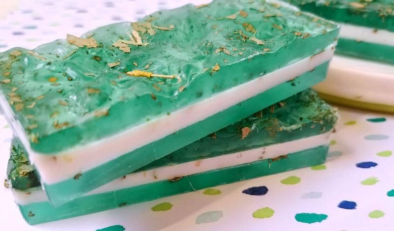 Eucalyptus soap layers