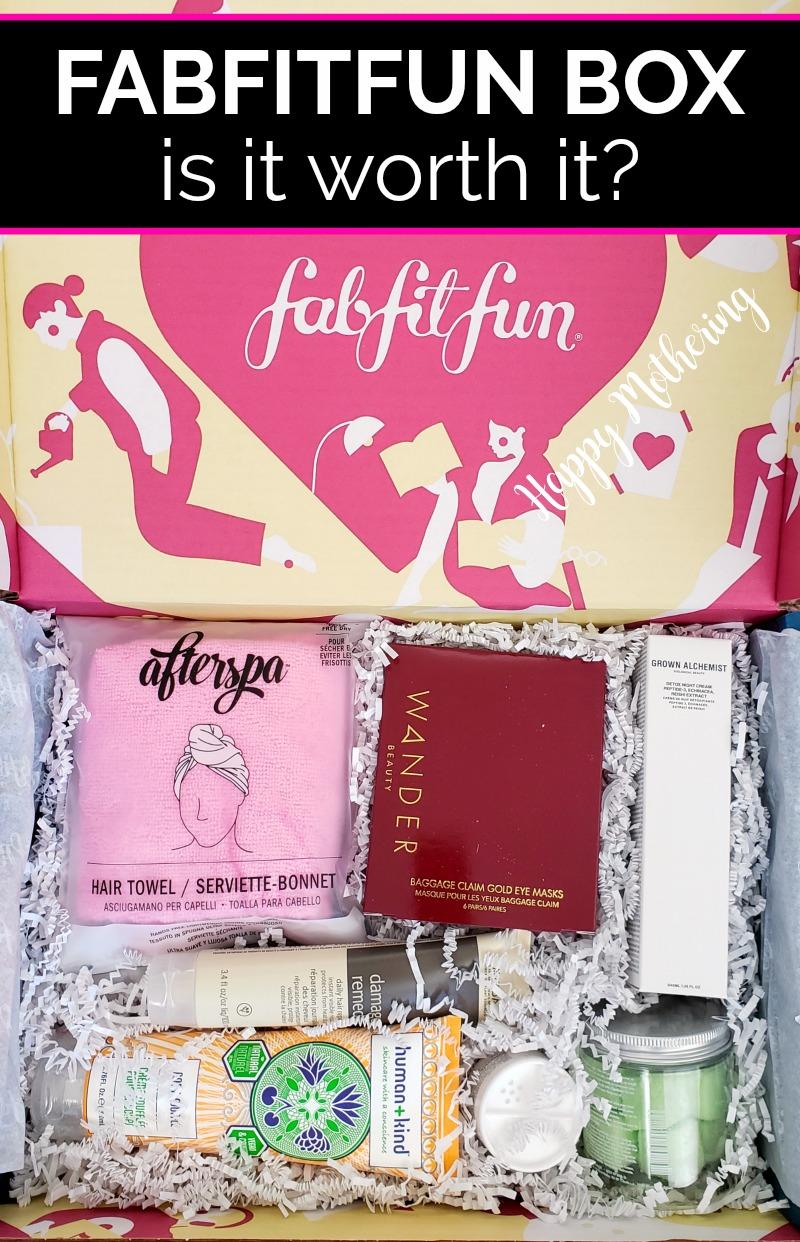 FabFitFun Fall 2019 Box opened