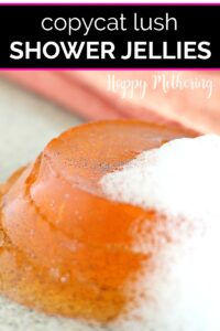 Close up of copycat Lush Shower Jelly on counter