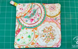 Sew an allowance around all four edges and your pot holder is complete