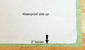 Waterproof fabric side up