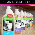 Enzyme based cleaning products from Naturally It's Clean on our kitchen counter