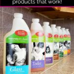 Enzyme cleaners from Naturally It's Clean on the kitchen counter