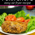 Almond Parmesan Pork Chops cooked in the Instant Pot Duo Crispy air fryer
