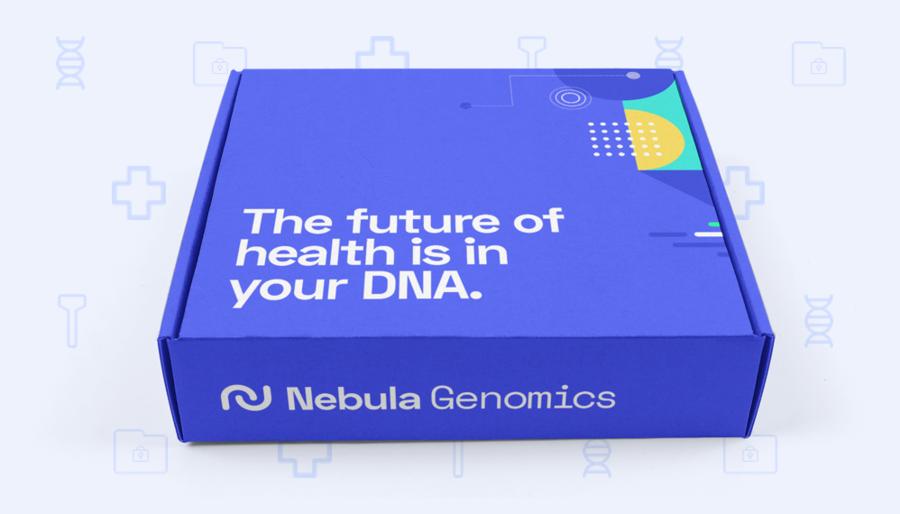 Nebula Genomics DNA Testing Box.