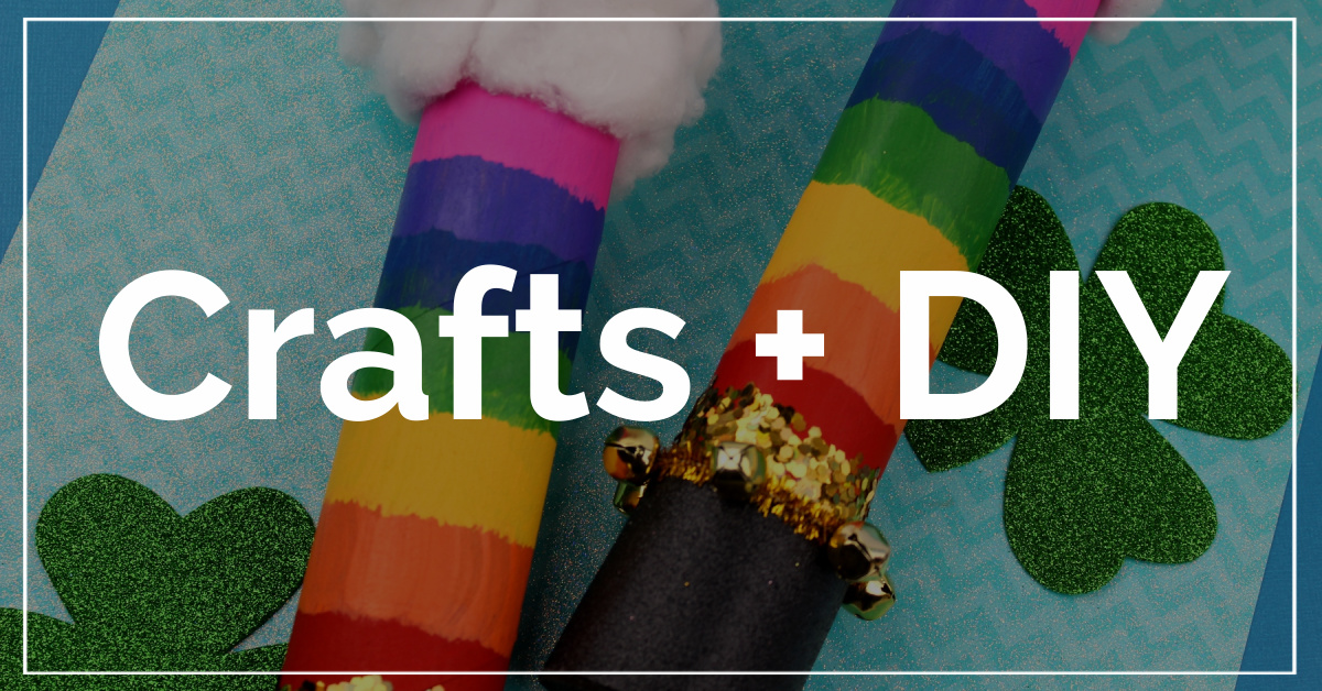 Crafts and DIY category with a rainbow shaker wand in the background