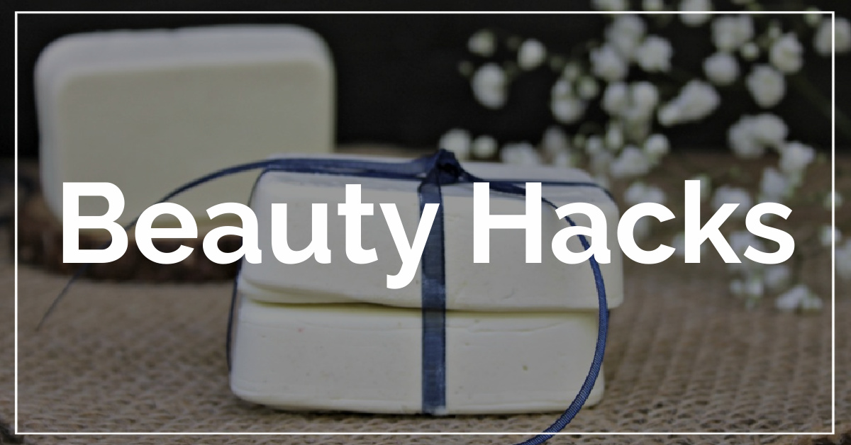 Beauty Hacks category. With a background of sunscreen bars.