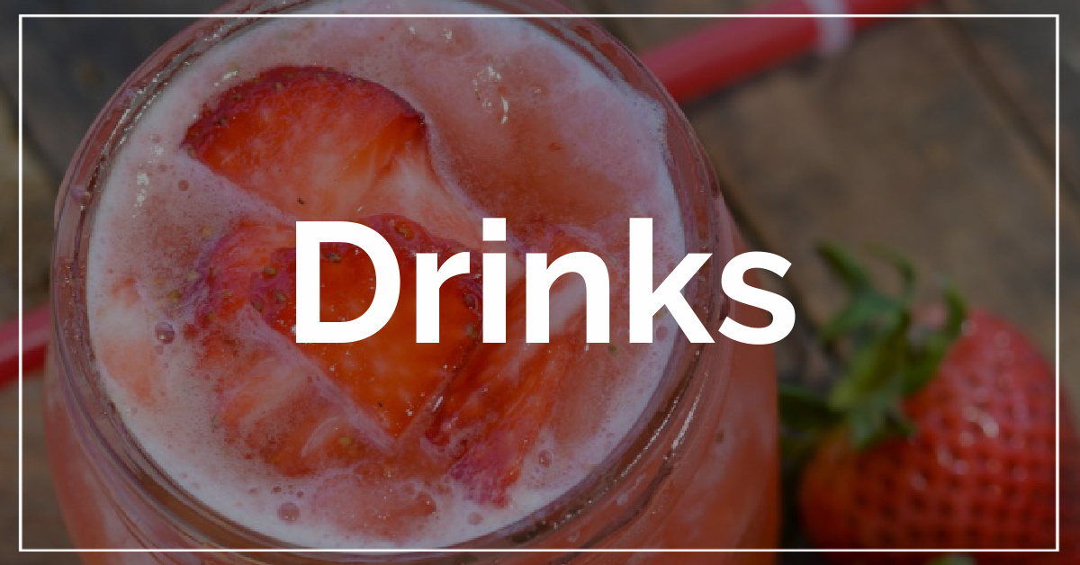 Drinks category. With a background of strawberry lemonade.