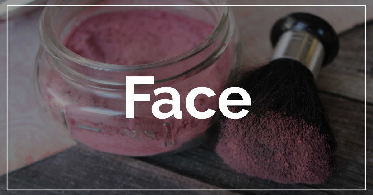 Face category. With a background of DIY Blush.