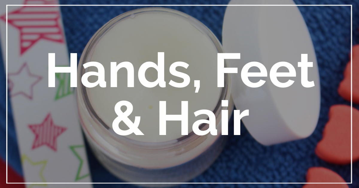 Hands, Feet and Hair category. With a background of cuticle cream.