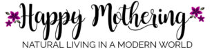 Happy Mothering: Natural Living in a Modern World Logo.