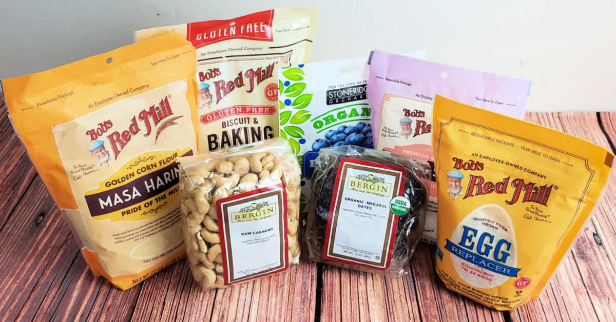 Gluten free baking and snack items from iHerb.